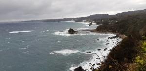 尾ヶ崎ウイングと言う展望台から見た白浜方面